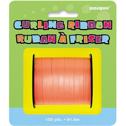 Curling Ribbon, Orange, 100 yd, 1ct