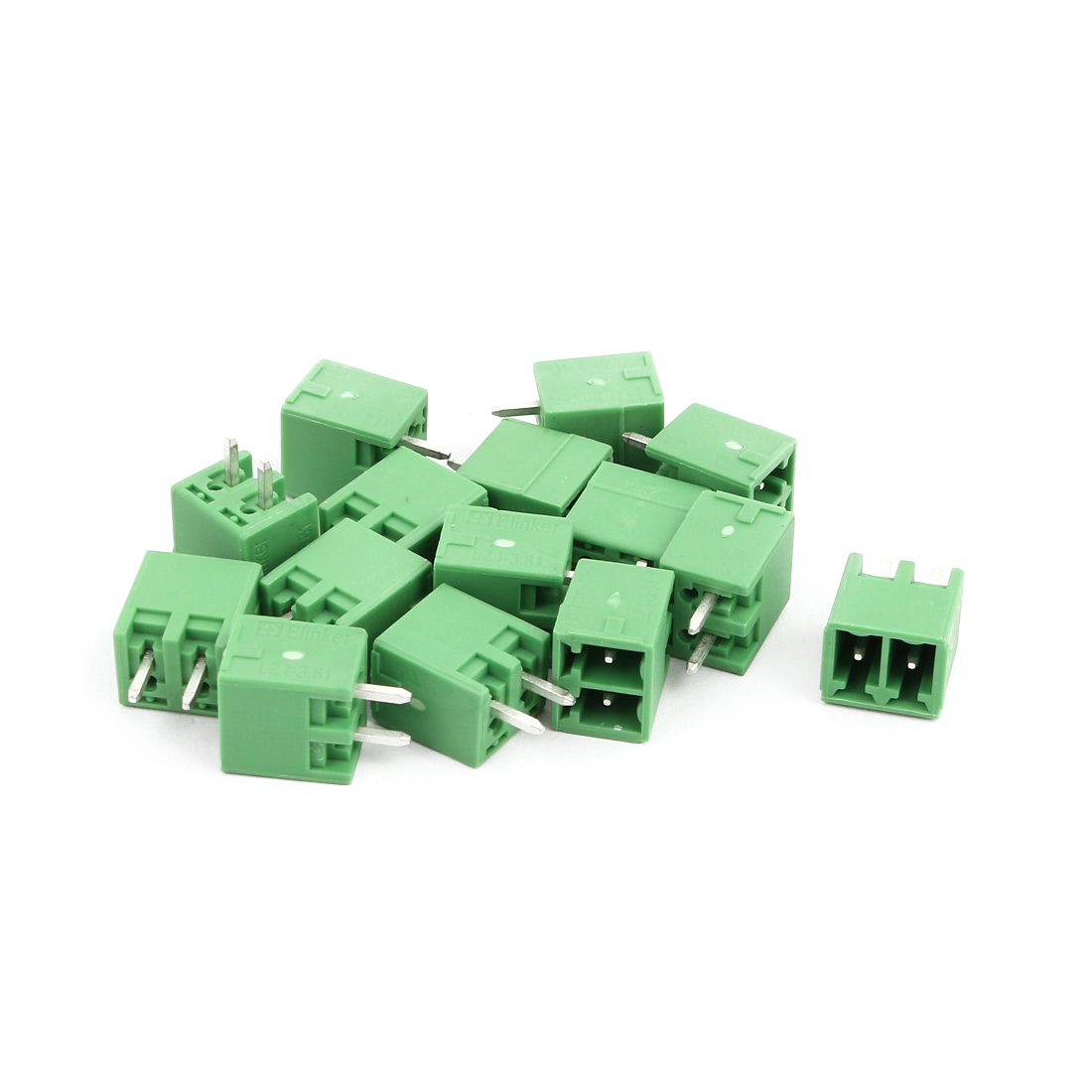 15Pcs AC300V 8A 3.81mm Pitch 2P Terminals Block Wire Connection for PCB Mounting