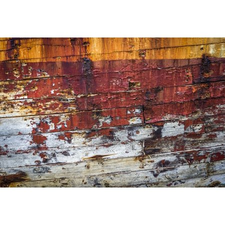 Canvas Print Boat Hull Texture Texture Rust Peeling Paint Rust Stretched Canvas 10 x (Best Paint For Aluminum Boat Hull)