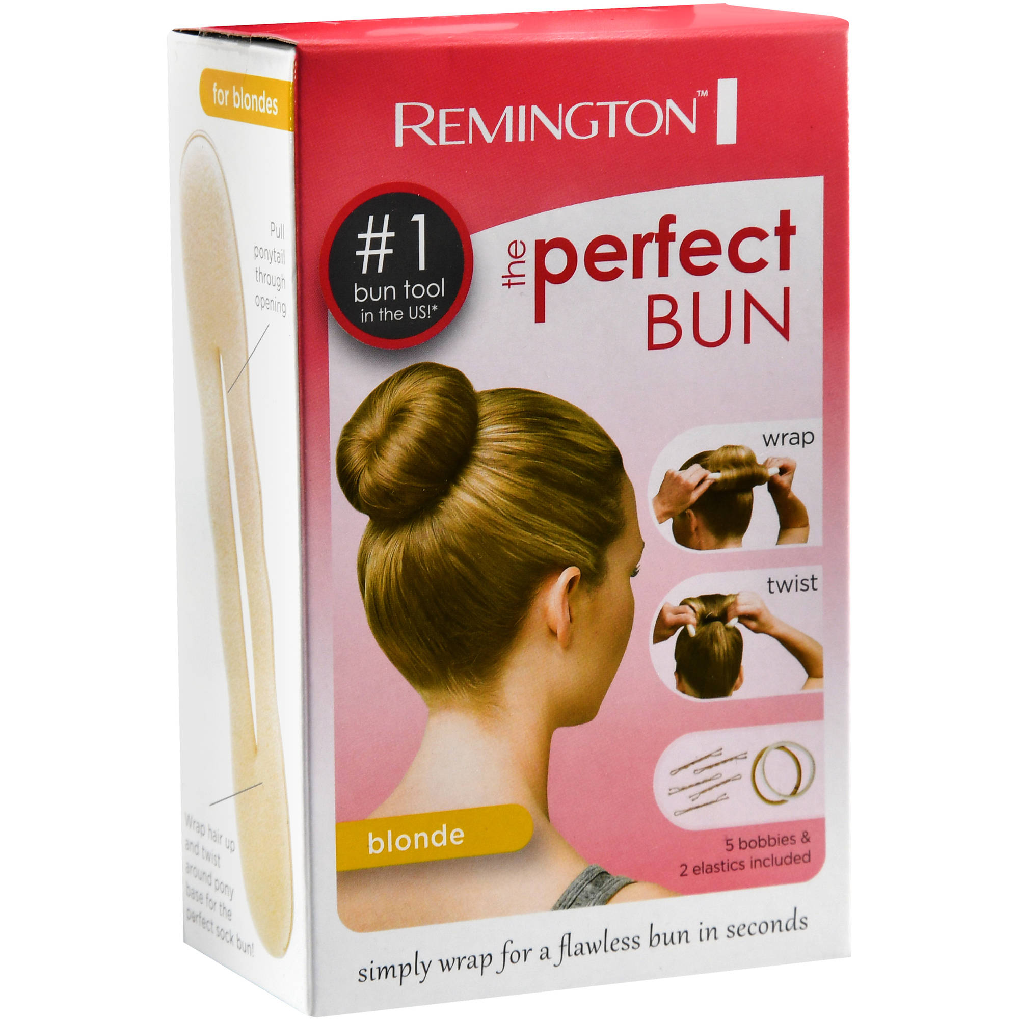 Walmart Hair Styling Tools Remington Perfect Bun Hair Styling Accessory White Sb1W1Bl .