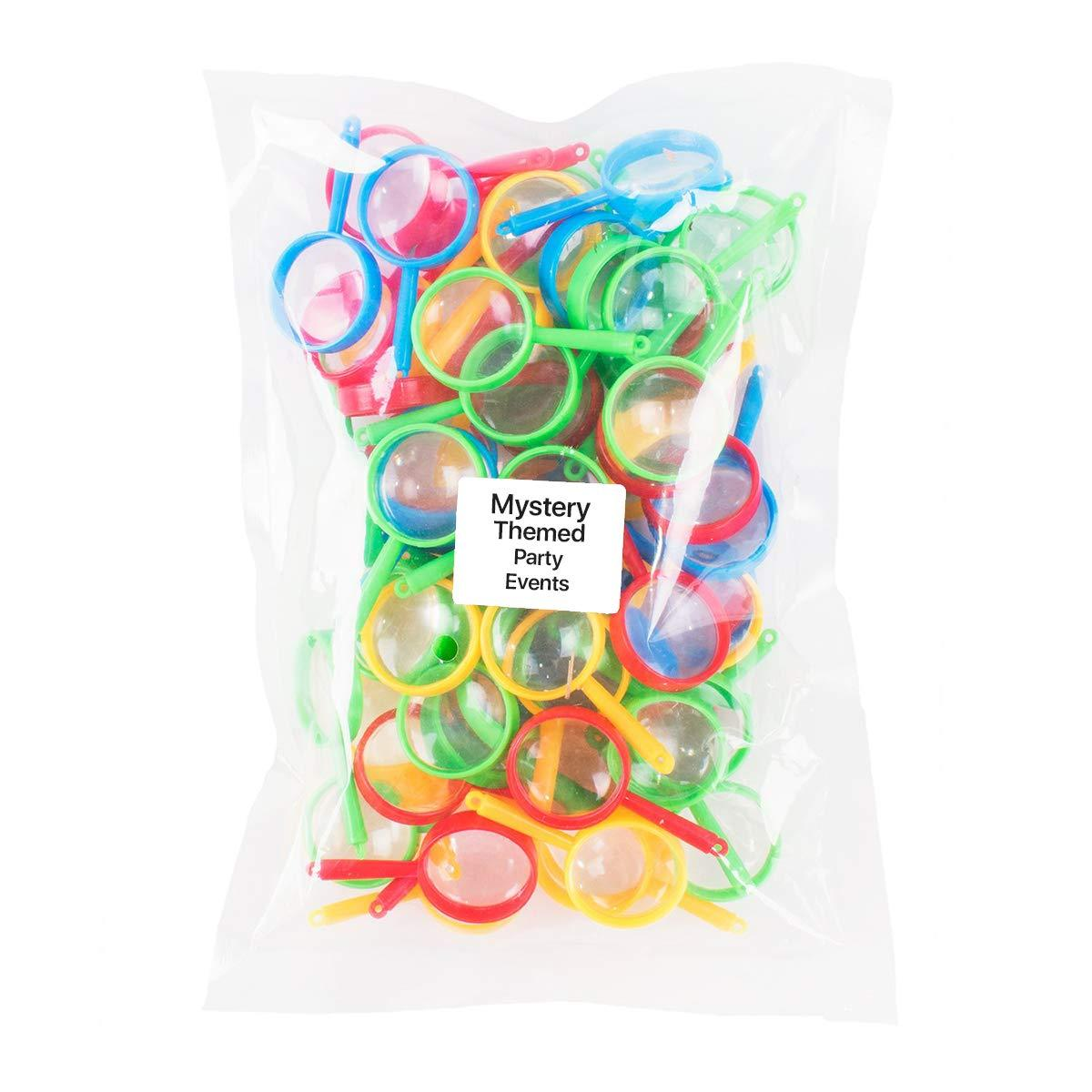 144 Pack of Plastic Enlarging Glasses Party Prizes KCO Brands Party Favors or Loot Bags Fillers Finding Easter Eggs Gadget Gift Ideas Children Educational Toy Magnifying Glasses