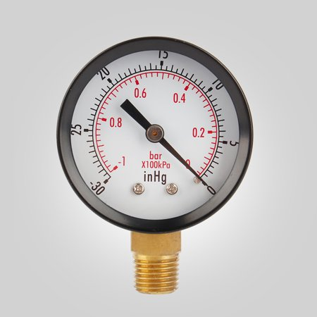 2  Vacuum Pressure Gauge fr Air Compressor Water Oil Gas 1/4  NPT Lower Mount MF,Compressor Water Oil (Gas Stations With Air Pumps With Gauges)