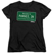 Comedy NBC TV Series Pawnee Sign Women's T-Shirt Tee