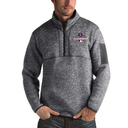 Boston Red Sox Antigua 2018 World Series Champions Fortune Quarter-Zip Pullover Jacket - Charcoal