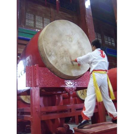 LAMINATED POSTER Shanghai Asia Chinese Drum Tower China Drums Poster 24x16 Adhesive - Chinese Drum