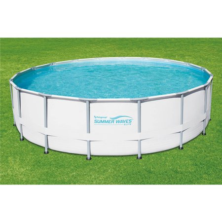 Summer waves elite 18 39 x 48 round premium metal frame for Summer waves above ground pool review