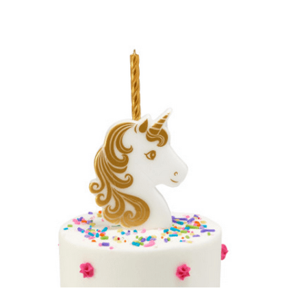 Gold And White Unicorn Cake Deocration Candle Holder