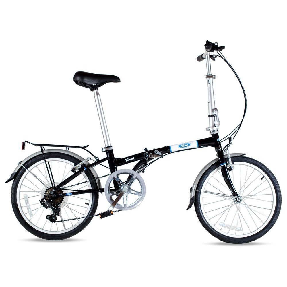 Ford by Dahon Bikes Taurus 7 Speed Lightweight Portable Folding Bicycle, Black