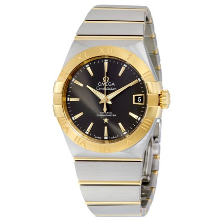 Omega Constellation Co-Axial Grey Dial Stainless Steel with Yellow Gold Mens Watch 123.20.38.21.06.001