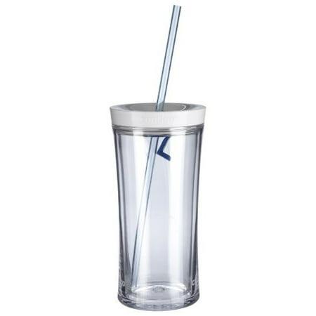 Contigo Shake and Go Tumbler 16-Ounce Clear - Clear Tumblers With Straws