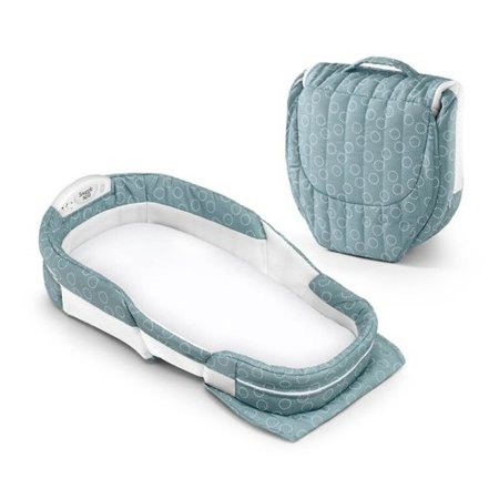 Baby Delight Snuggle Nest Surround Xl Infant Sleeper   Sea Green Rings