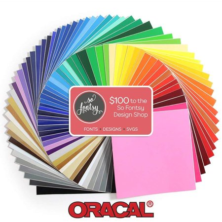Oracal 631 Matte Vinyl Bundle 12 x 12 - 68 All Colors