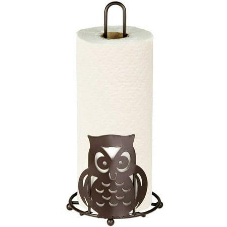 - Home Basics Owl Collection Paper Towel Holder, Bronze