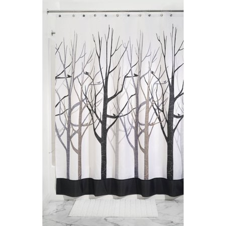 Interdesign Forest Fabric Shower Curtain Various Sizes Colors