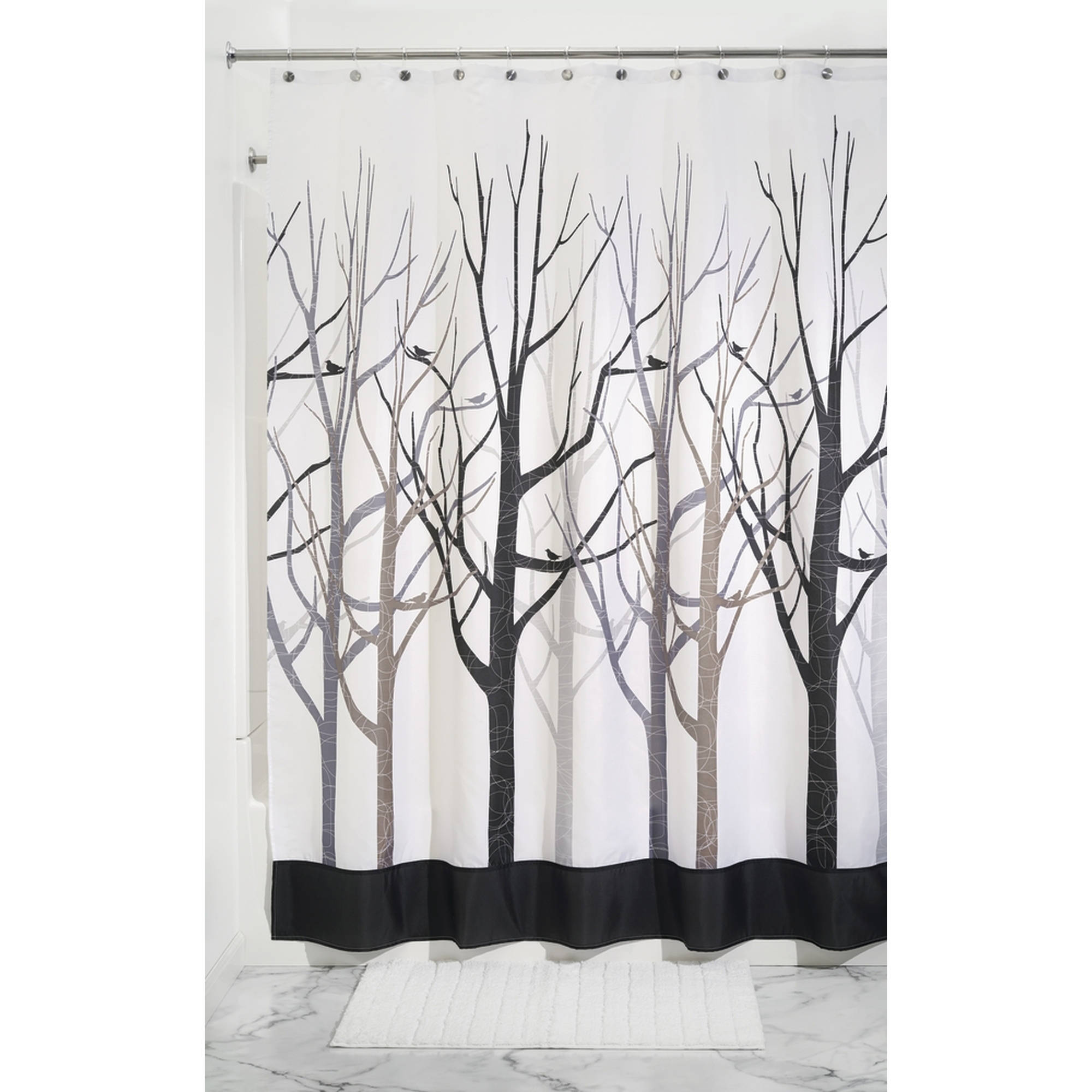 InterDesign Forest Fabric Shower Curtain, Various Sizes