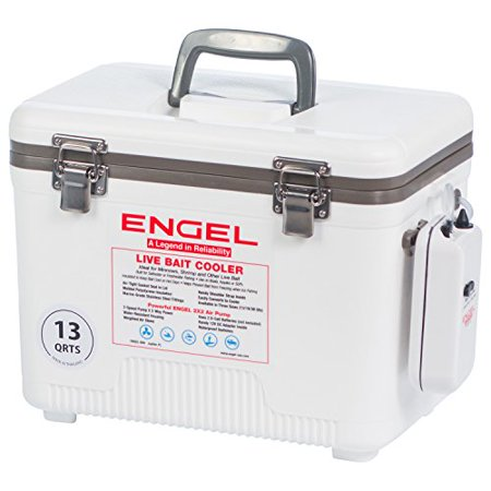 Engel Coolers 13 Quart Live Bait Cooler/Dry Box with Air Pump,