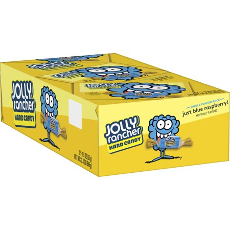 Jolly Rancher, Blue Rasberry Hard Candy, 1.9 Oz, 12 - Blue Raspberry Jolly Ranchers