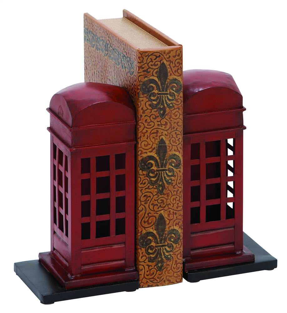 Decmode Metal Bookend Pair, Multi Color by DecMode