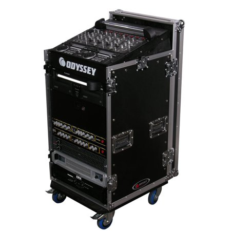 Odyssey Cases FZ1116W New Ata Combo Rack Flight Case DJ Pro Audio W/ 16X11 Space American Dj Dj Equipment Case