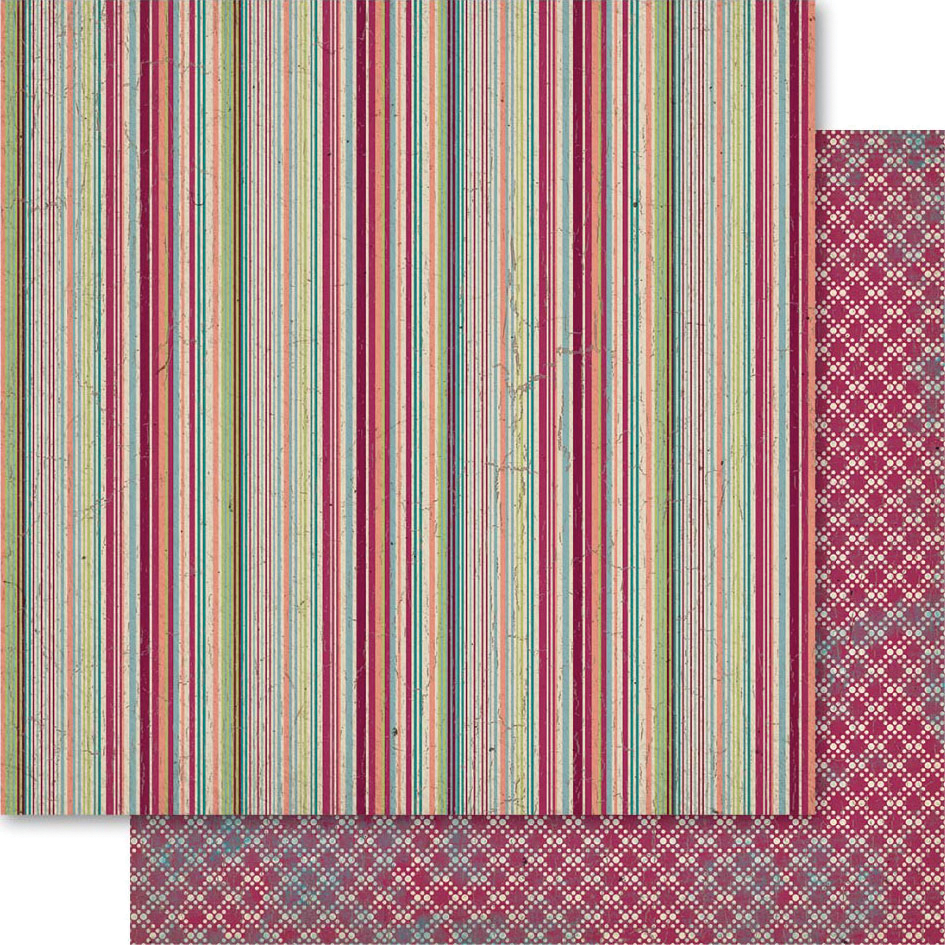 "Heritage Double-Sided Cardstock 12""X12""-Stripe"