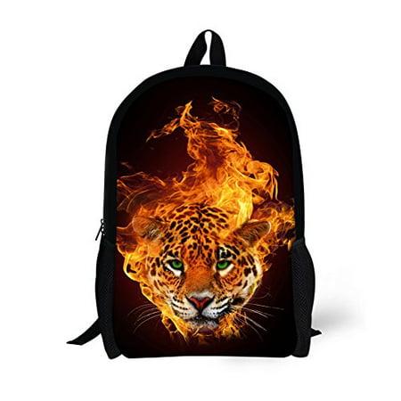 532429b38e brand - HUGSIDEA Cool 3D Animals Children School Book Bag Kids Printing  Backpacks - Fire Leopard - Walmart.com