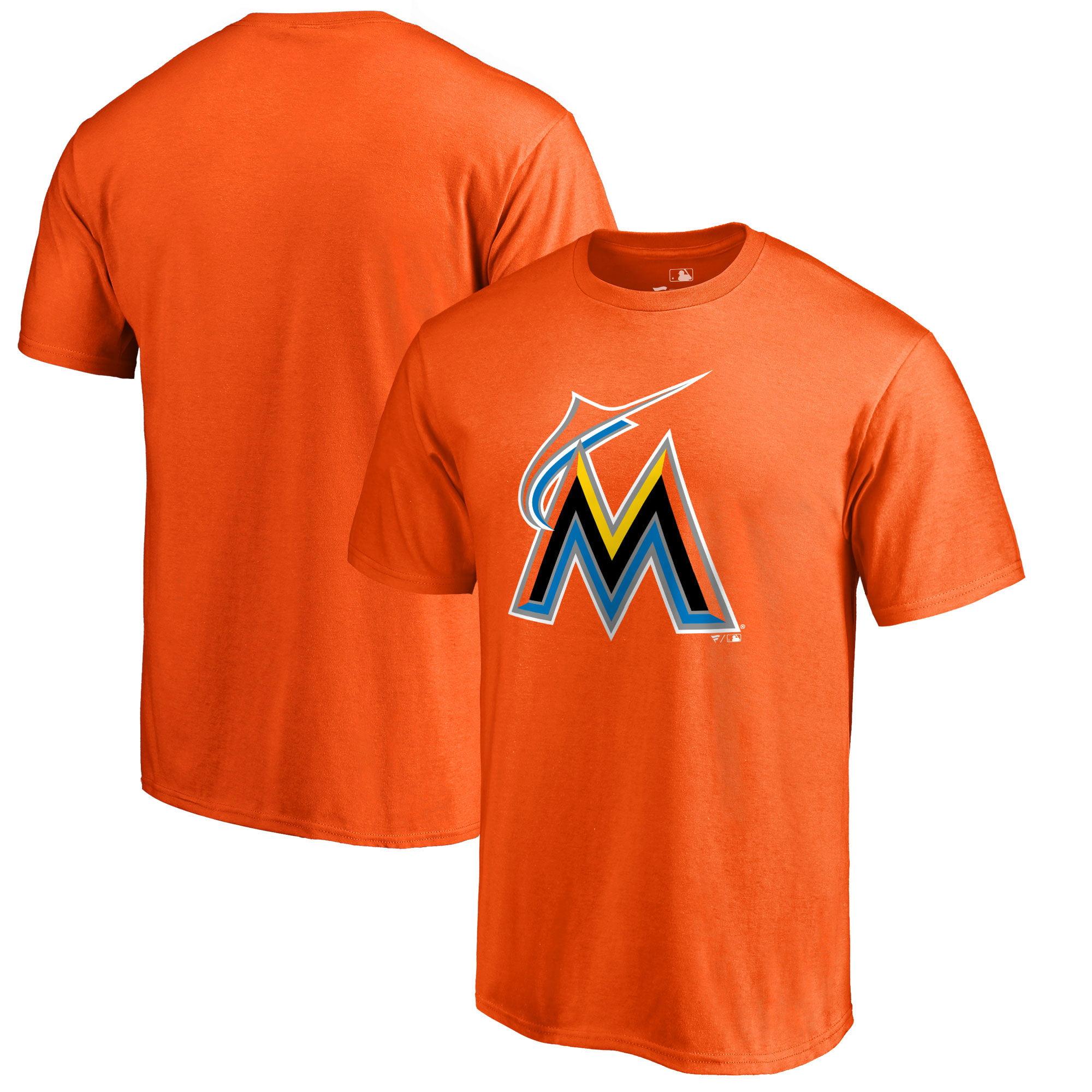 Miami Marlins Fanatics Branded Primary Logo T-Shirt - Orange