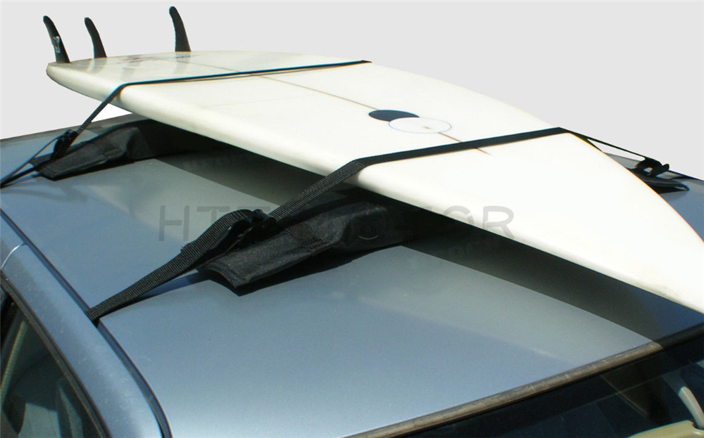 Tiki surfboard car soft surf roof rack for up to 3 Boards