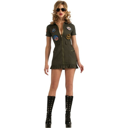 Costumes For Females (Adult Female Top Gun Flight Dress Costume by Rubies)