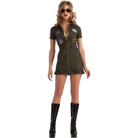 - Adult Female Top Gun Flight Dress Costume by Rubies 880887