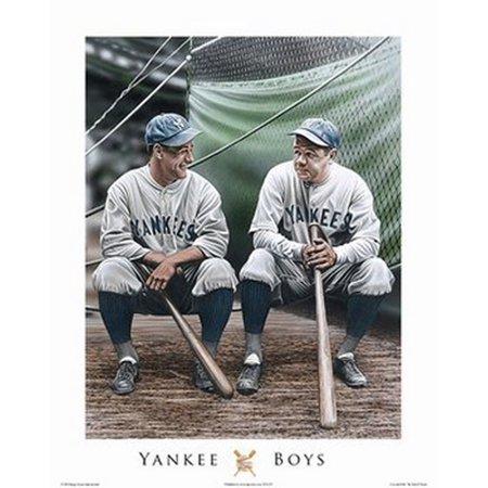 Darryl Strawberry Yankees - Yankee Boys Lou & Babe Poster Print by Darryl Vlasak (16 x 20)