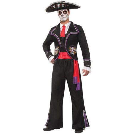 Adult Mariachi Costume (Morris Costumes FM74648 Day of Dead Mariachi Macabre)
