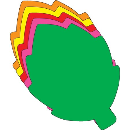 Assorted Leaves - Large Assorted Color Creative Foam Cut-Outs - Leaf