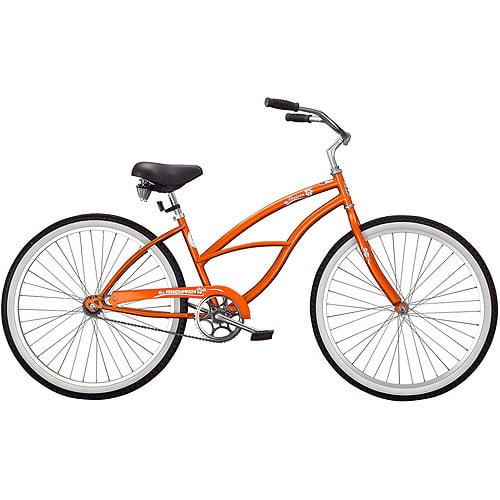 """26"""" Micargi Pantera Women's Beach Cruiser Bike, Orange"""