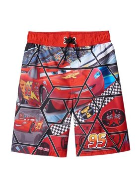 Disney Boys 4-7 Cars Swim Trunk (Red 5/6)