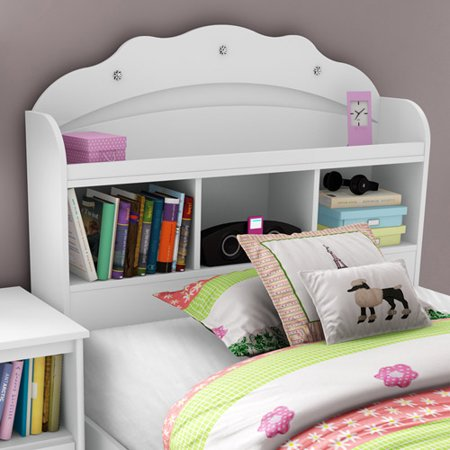 South Shore Tiara Twin 39 Inch Bookcase Headboard  White