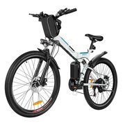 "26"" 21 Speed Folding Electric Mountain Bike For Adults Bicycle with 36V 250W Large Capacity Lithium-Ion Battery"