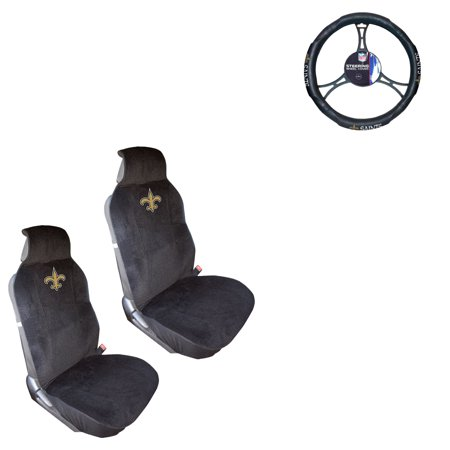- New Orleans Saints 2 Seat Covers And Wheel Cover