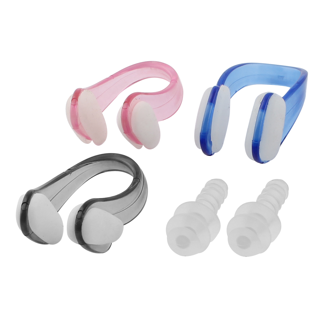 Unique Bargains 3Pcs Soft Silicone Swimming Nose Clip + Ear Plugs Combo Set For Adult Youth