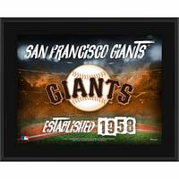 "San Francisco Giants Fanatics Authentic 10.5"" x 13"" Sublimated Horizontal Team Logo Plaque - No Size"