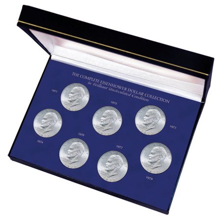 American Coin Treasures Complete Eisenhower Dollar Collection in Brilliant Uncirculated Condition Display Box