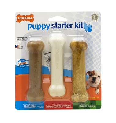 Nylabone Puppy Starter Kit, 3 Regular Size Bones, 4.5""