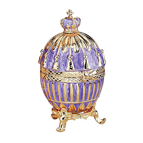 Design Toscano Faberge Style Tassel Enameled Egg