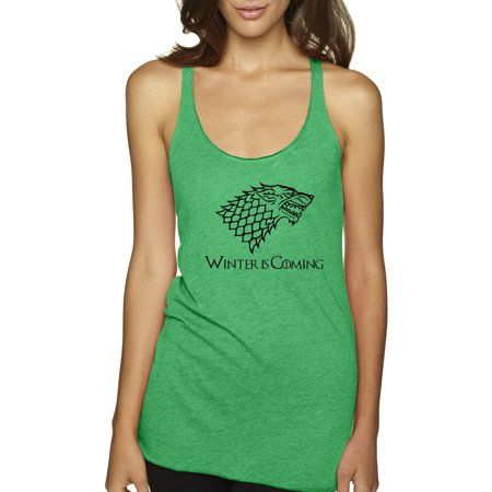 Trendy USA 1216 - Women's Tank-Top Winter Is Coming Stark Sigil Game Of Thrones Small Envy