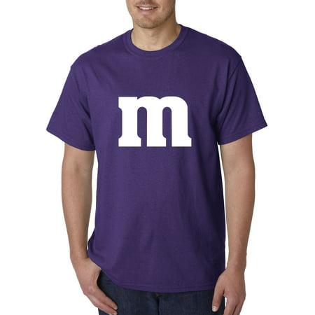 New Way 977 - Unisex T-Shirt M Letter Logo Parody Funny Humor 3XL Purple