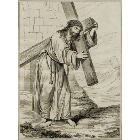The Man Of Sorrows 19Th Century Print From The Altar Piece In Magdalen College Chapel Oxford Engraved By GCooke Published By The Society For Promoting Christian Knowledge May 1815 Canvas - Chapel Altar