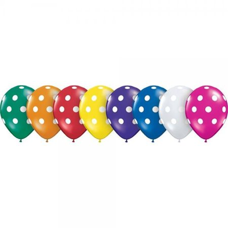 Qualatex 27577 Big Polka Dots Latex Balloons 16 Inch Jewel