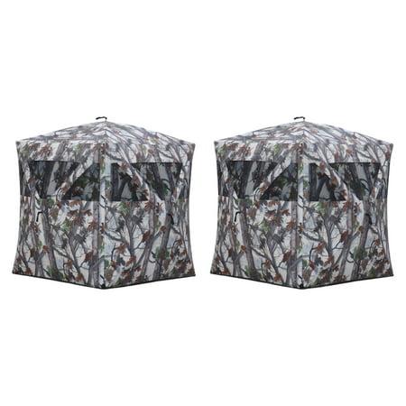 Barronett Blinds Water Resistant Radar Snow Camouflage Box Blind, White (2 Pack) thumbnail