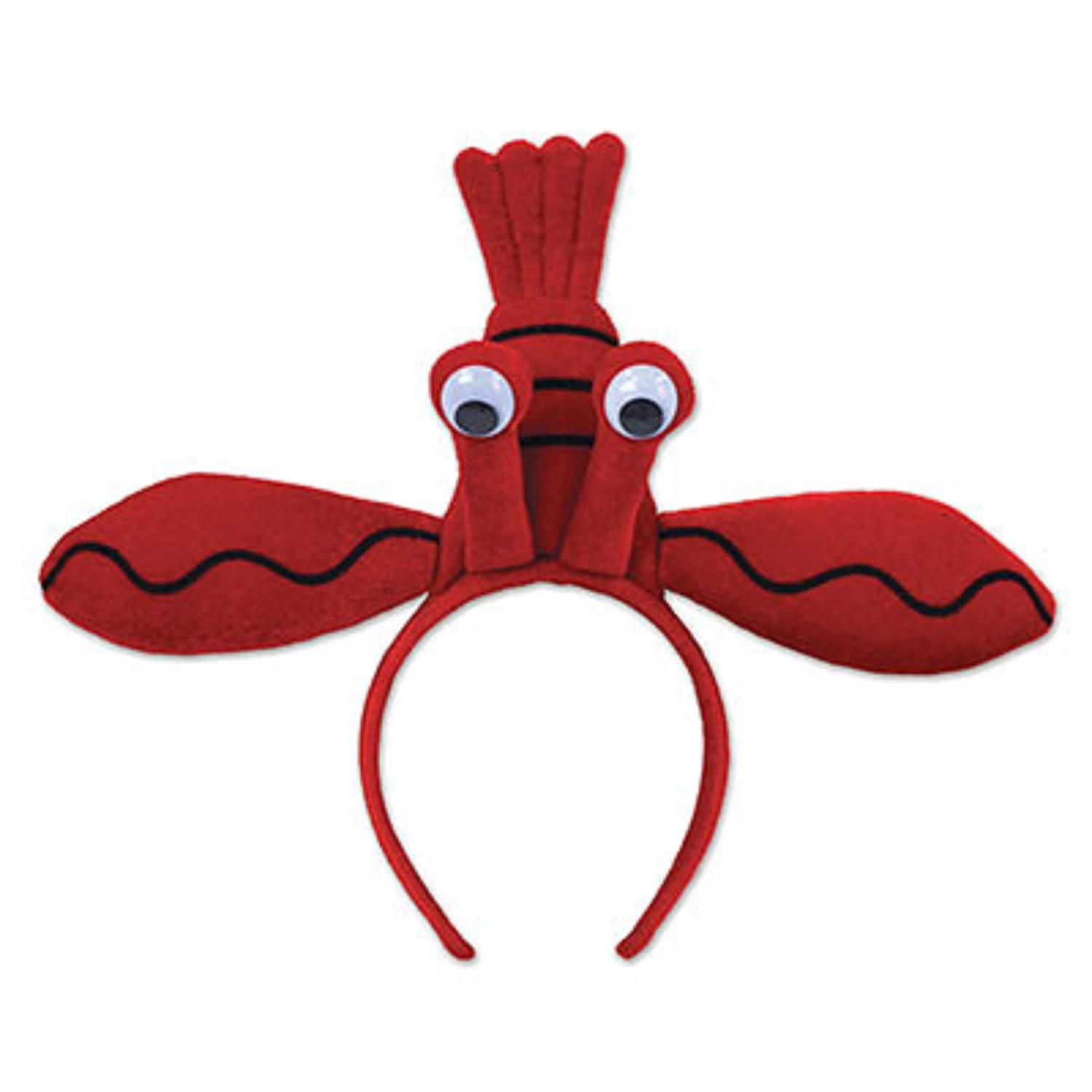 Pack of 12 Red Lenny Lobster Birthday Snap-On Headband Party Favor - One Size Fit's Most