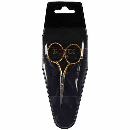 "Bohin Embroidery  Scissors 3.5""-Large Gilt Handle"