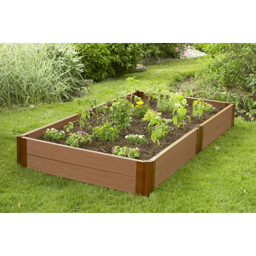 Frame It All 4 ft. x 4 ft. Plastic Raised Garden Planter